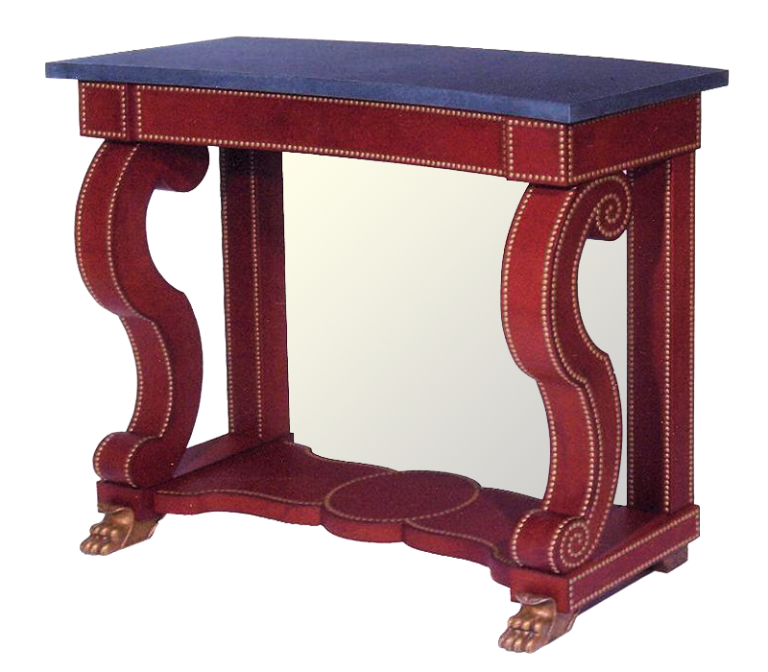 Red Leather Console for Cullman & Kravis