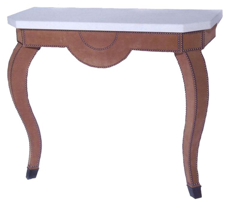 Suede Console Table for Cullman & Kravis