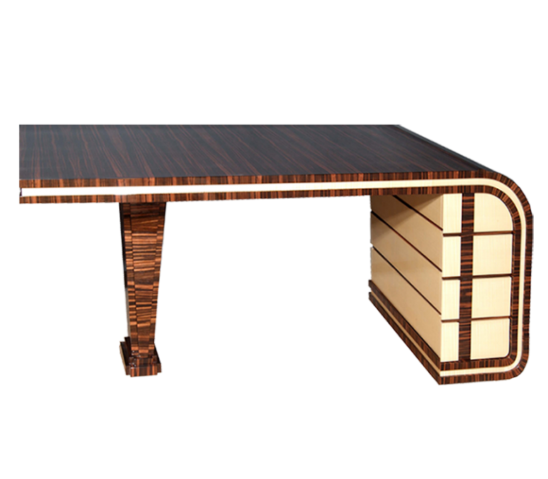 Madagascar Ebony and Sycamore Desk for Stanhope Gate