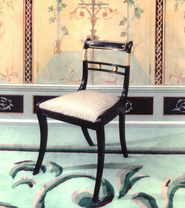 Black Lacquer Side Chair for The Messel Suite at The Dorchester