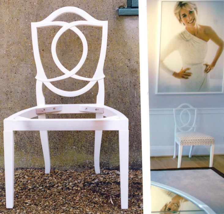 Chair for Diana Princess of Wales Exhibition at Kensington Palace