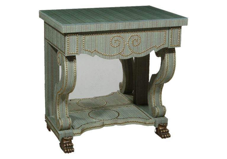 Green Velvet BedsideTable for Alidad