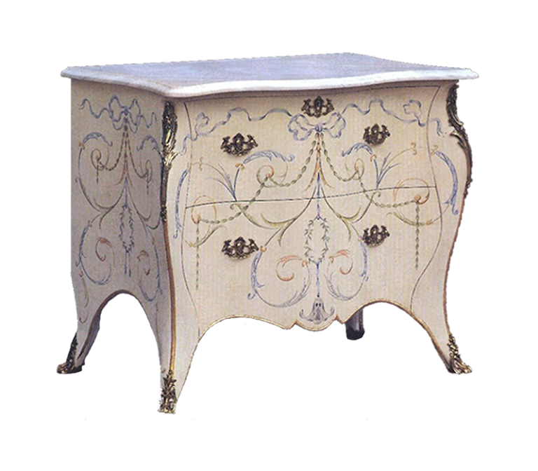 Painted Cabriole Bedside Cabinet