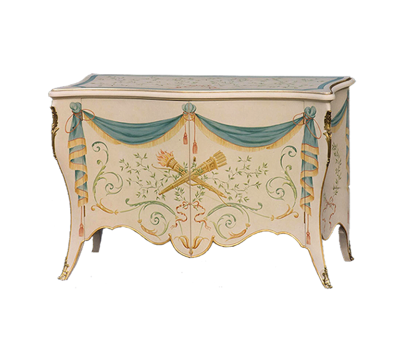 Painted Cabriole Cabinet