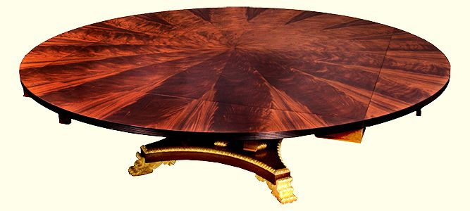 A Gilt Frond Mahogany Metamorhic Table created for Alidad