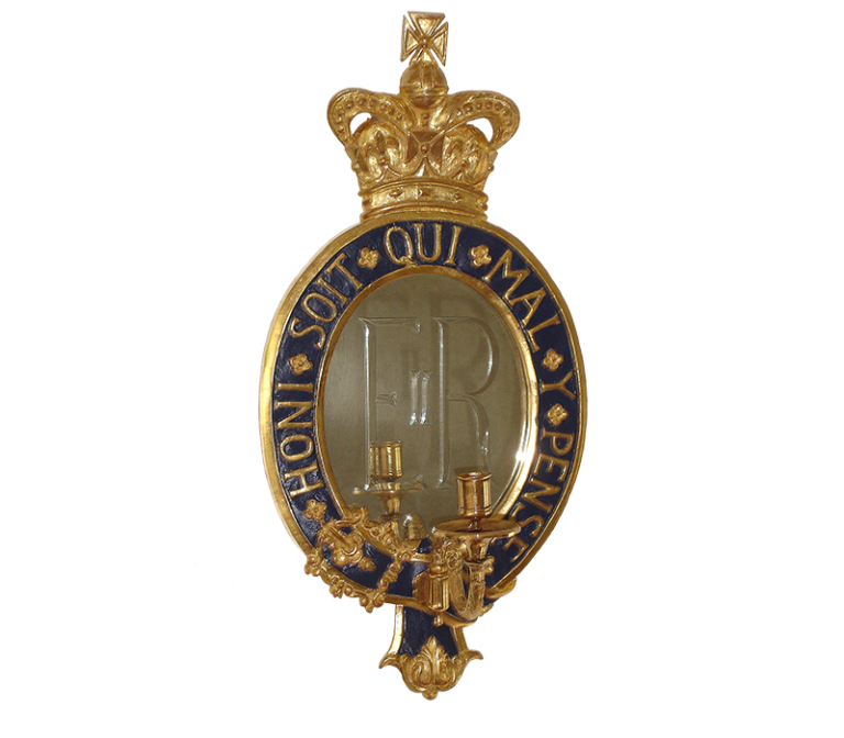 Giltwood Girandoles created for auction by The Household Cavalry Foundation