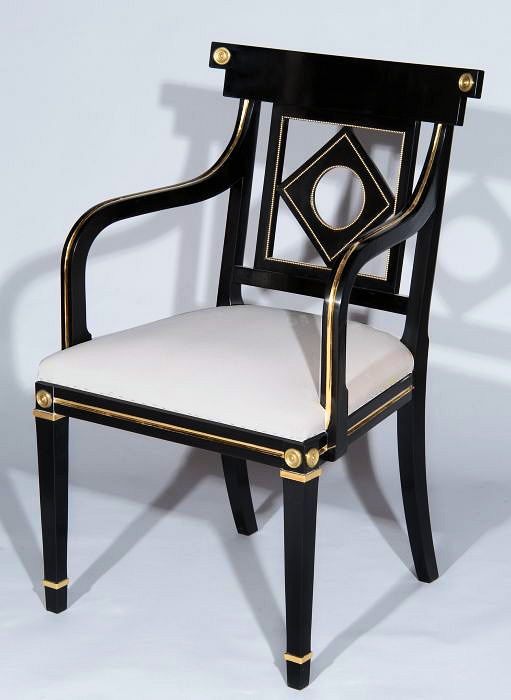 Ebonised Russian Chair for Ingrao