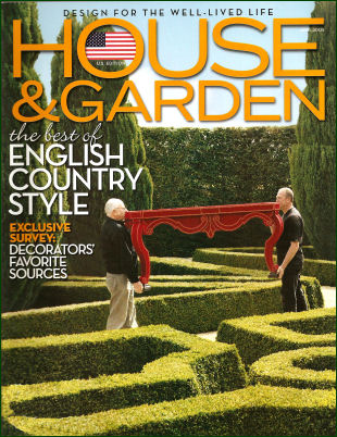 US House & Garden Magazine Cover