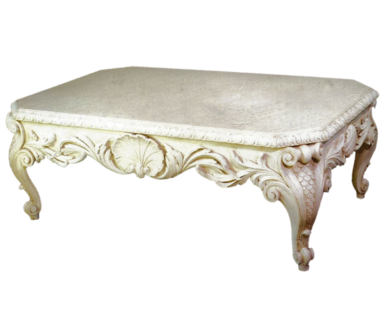 Carved Shell Coffee Table for Amanda Murray